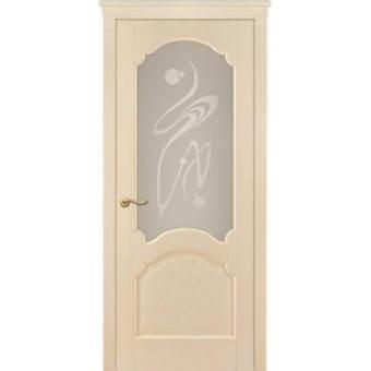 Мекомнатная дверь ''Дариано Порте (Dariano Porte)'' Барселона стекло Орех ясень белый