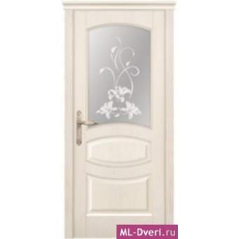 Мекомнатная дверь ''Дариано Порте (Dariano Porte)'' Махаон стекло Идиллия ясень белый
