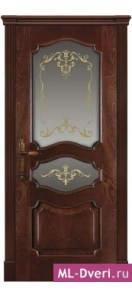 Мекомнатная дверь ''Дариано Порте (Dariano Porte)'' Марго 2 стекла Ажур красное дерево