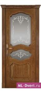 Мекомнатная дверь ''Дариано Порте (Dariano Porte)'' Марго 2 стекла Узор дуб