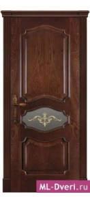 Мекомнатная дверь ''Дариано Порте (Dariano Porte)'' Марго стекло Ажур малое красное дерево