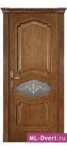 Мекомнатная дверь ''Дариано Порте (Dariano Porte)'' Марго стекло Узор малое дуб