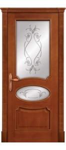 Мекомнатная дверь ''Дариано Порте (Dariano Porte)'' Оливия 2 гравировки Оливия черешня