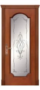 Мекомнатная дверь ''Дариано Порте (Dariano Porte)'' Женева-Ф гравировка Азалия черешня
