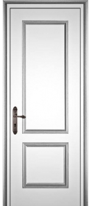 Межкомнатная дверь Европан Классик 1 ДГ Экошпон Белый
